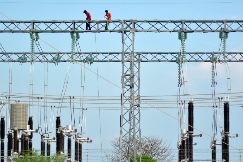 Gardu induk PLN. (ilustrasi)
