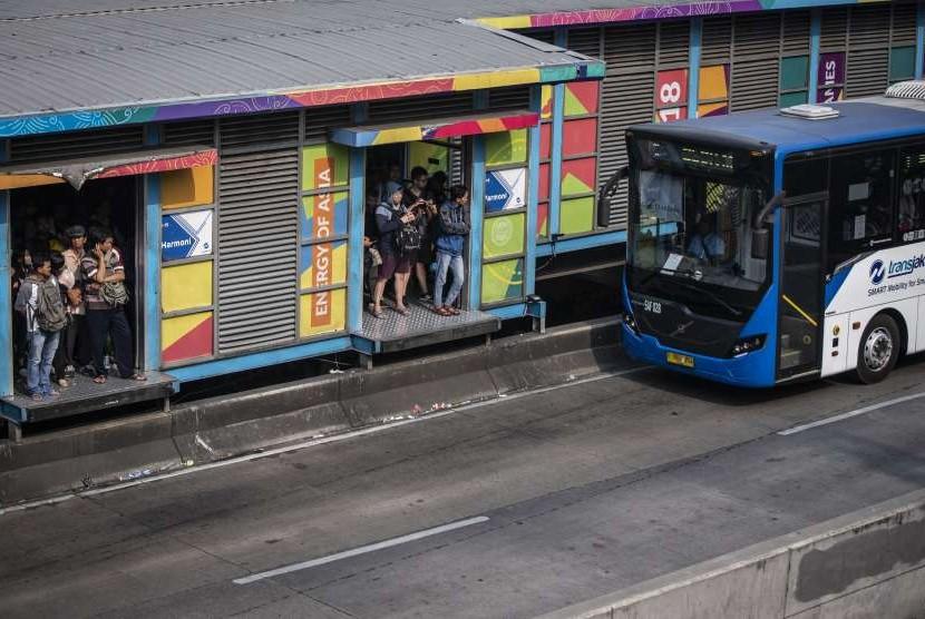 Bus Transjakarta (Ilustrasi)