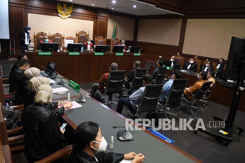 Sejumlah terdakwa kasus korupsi PT Asabri menjalani sidang lanjutan di Pengadilan Tipikor, Jakarta.