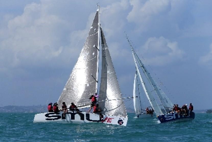 Sejumlah yacht berada di Nongsa, Batam (ilustrasi).