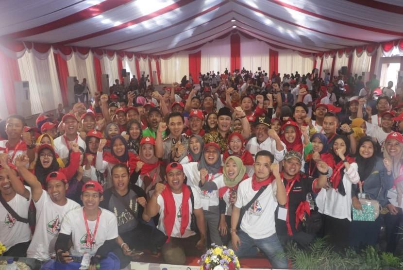Sekitar 1000 mahasiswa dan pemuda berkumpul di Ubaya Training Center, Mojokerto, Jawa Timur (14/12) mengikuti Jambore Kebangsaan 2018.