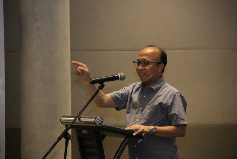 Sekjen Kementerian Desa, Pembangunan Daerah Tertinggal dan Transmigrasi (Kemendes PDTT) Anwar Sanusi dalam Acara Penguatan Program P3MD dan PID di Jakarta, pada Ahad (20/10).