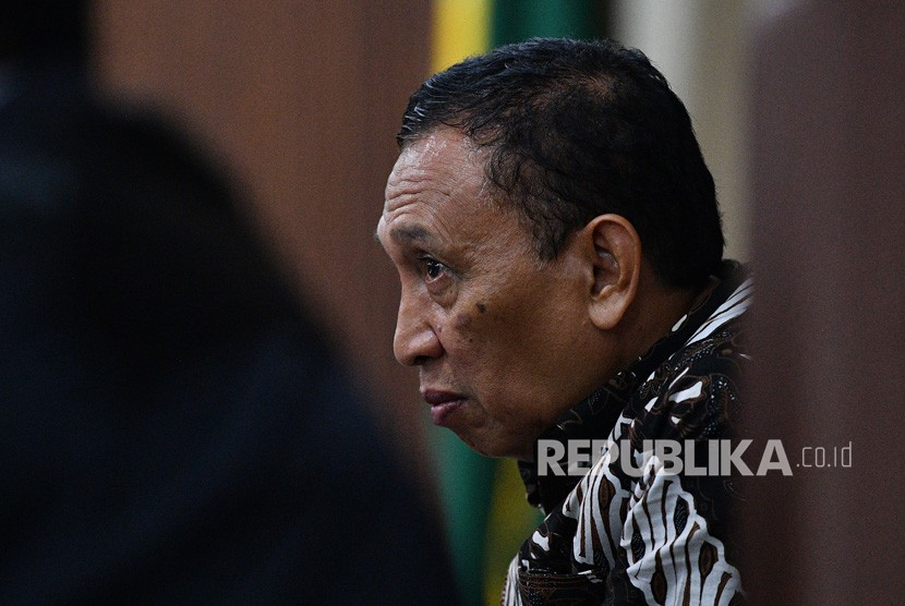 Sekjen KONI Ending Fuad Hamidy selaku terdakwa kasus korupsi dana hibah KONI menjalani sidang lanjutan di Pengadilan Tipikor, Jakarta Pusat, Kamis (21/3/2019).