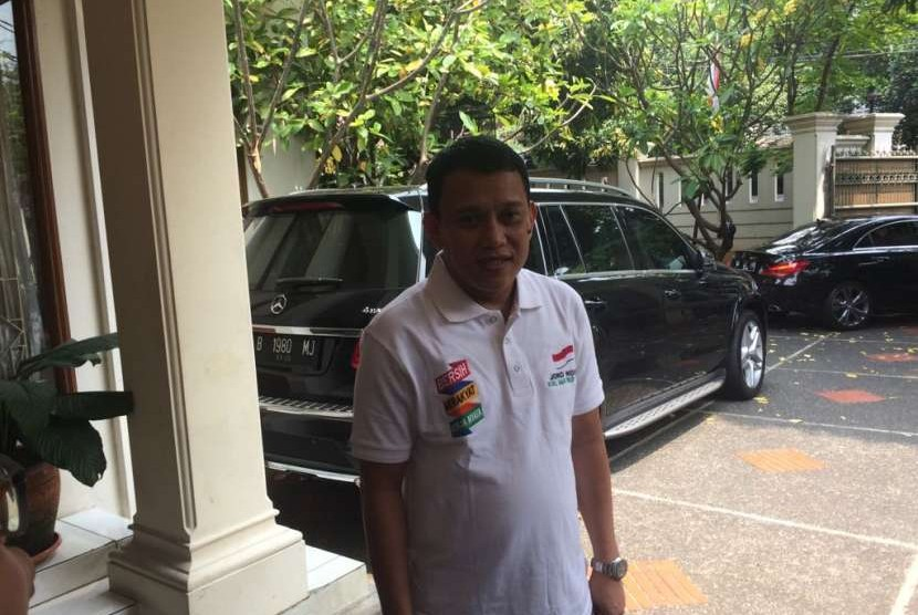 Sekjen PKB Abdul Kadir Karding di Posko Cemara, Menteng, Jakarta Pusat, Jumat (24/8).