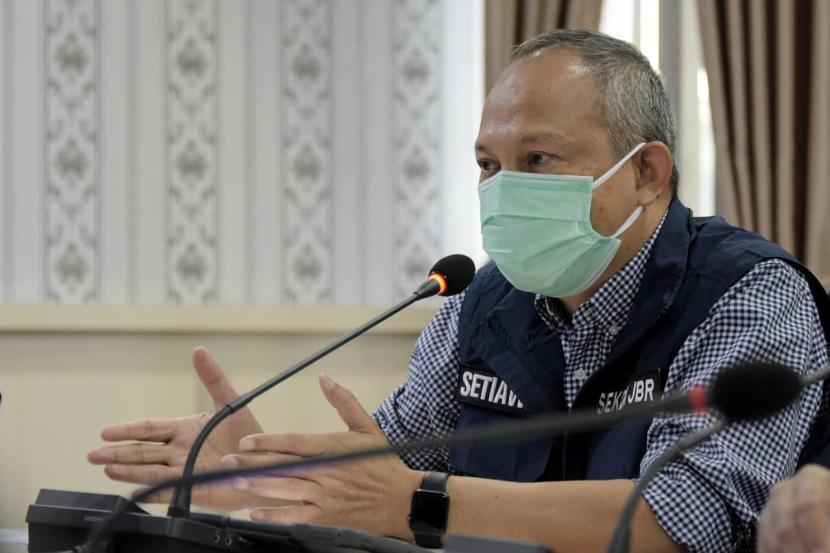 Sekretaris Daerah Jawa Barat (Jabar) Setiawan Wangsaatmaja, di Kabupaten Bekasi, Jawa Barat.
