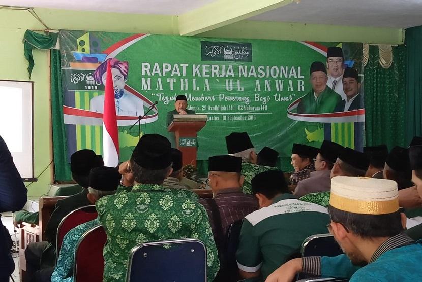 Sekretaris Daerah Pemprov Banten Al-Muktabar, membuka Rapat Kerja Nasional Mathla'ul Anwar (Rakernas MA) 2019, pada Sabtu 30 Agustus - 1 September 2019 di Komplek Pergurua MA Pusat Menes, Pandeglang - Banten.