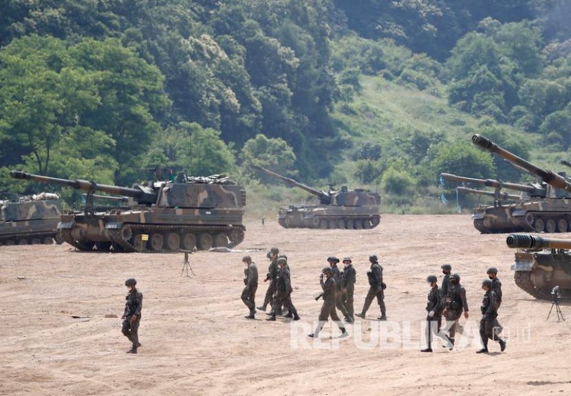 Latihan militer Korsel Amerika Serikat bisa merusak hubungan. Ilustrasi militer Korea Selatan
