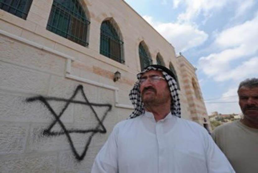 Vandalisme terhadap masjid (ilustrasi).