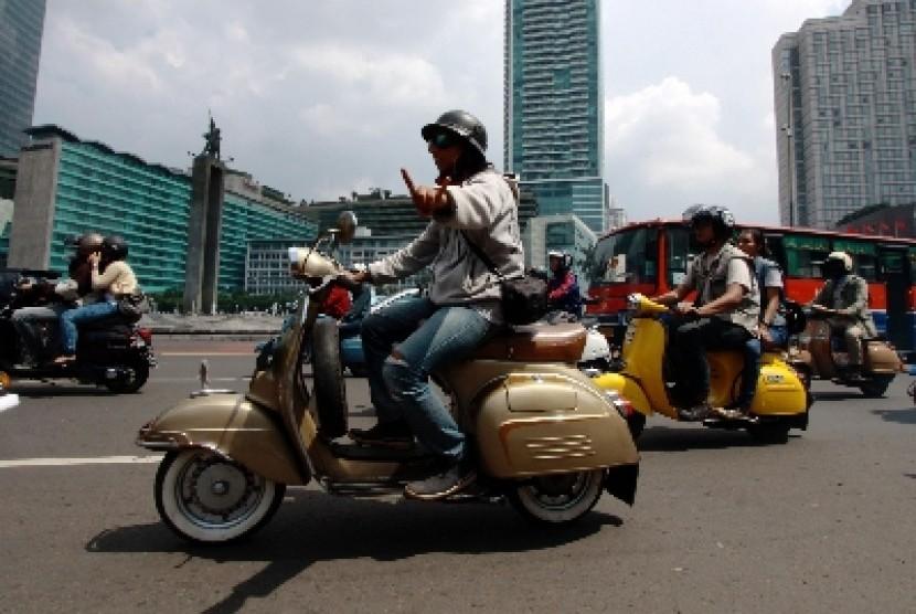 Sepeda motor dilarang masuk jalur protokol, Sudirman-Thamrin.