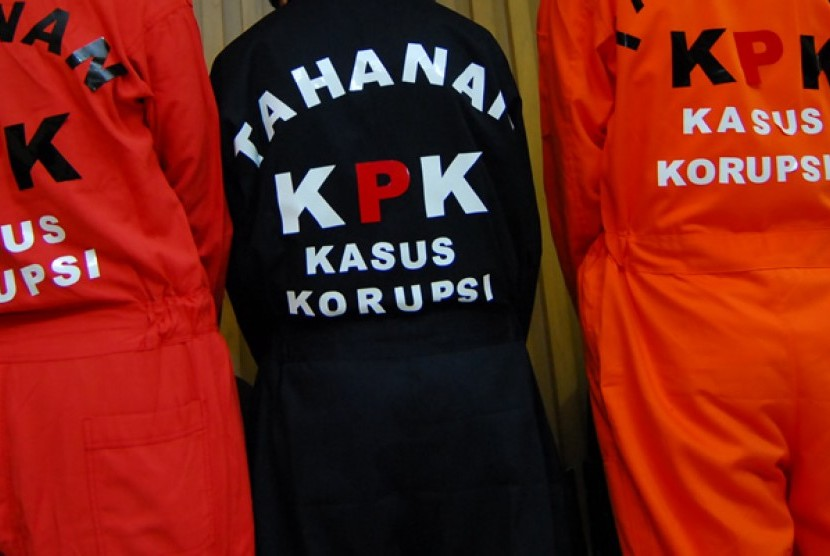 Seragam koruptor tahanan KPK (Ilustrasi)