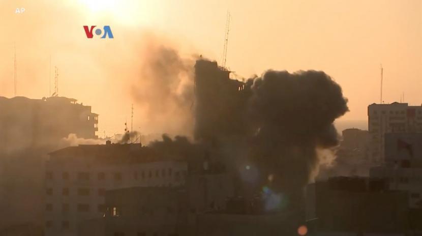 Serangan rudal di kawasan pemukiman Palestina