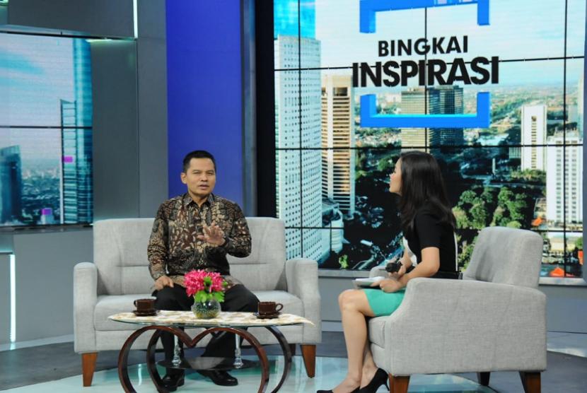 Sesjen MPR Ma'ruf Cahyono menjadi narasumber talkshow di salah satu stasiun televisi swasta.