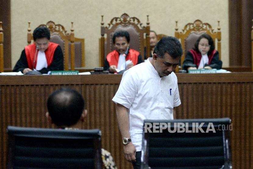 Mantan pejabat Badan Pertanahan Nasional (BPN) Nurhadi Putra di persidangan kasus dugaan korupsi KTP elektronik Andi Narogong (ilustrasi)