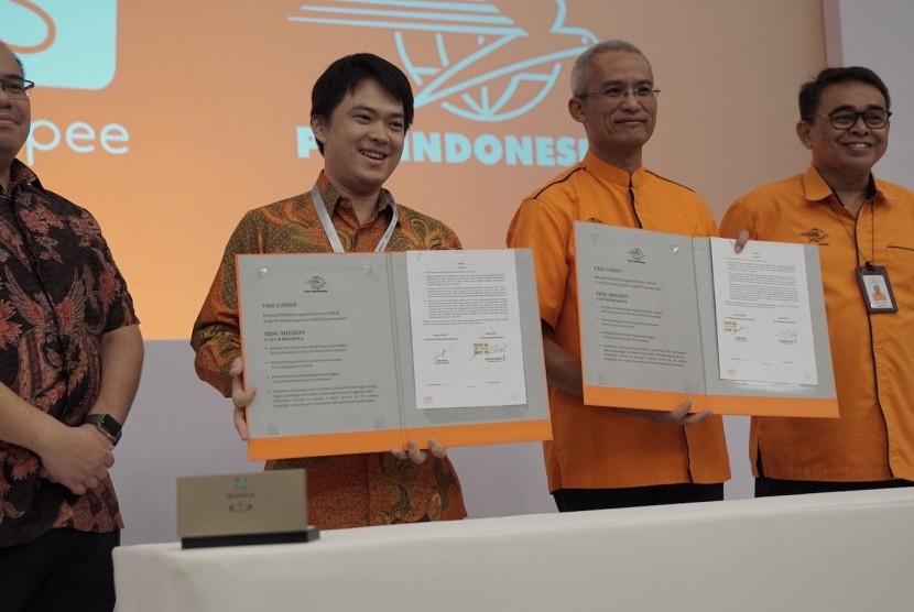 Shopee bekerjasama dengan PT Pos Indonesia