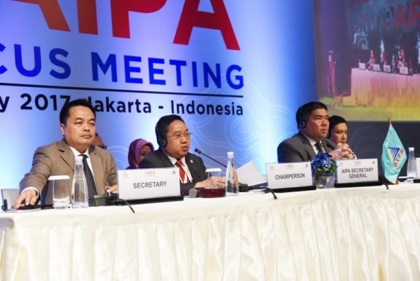 Sidang ASEAN Inter-Parliamentary Assembly (AIPA) Caucus ke-9 di Jakarta.