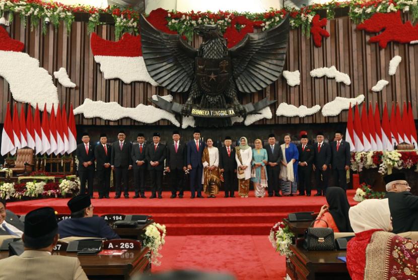 Sidang Paripurna MPR Pelantikan Presiden dan Wapres 2019-2024.