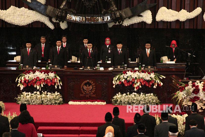 Sidang Tahunan MPR di Gedung Kura Kura Parlemen, Senayan, Rabu (15/8)