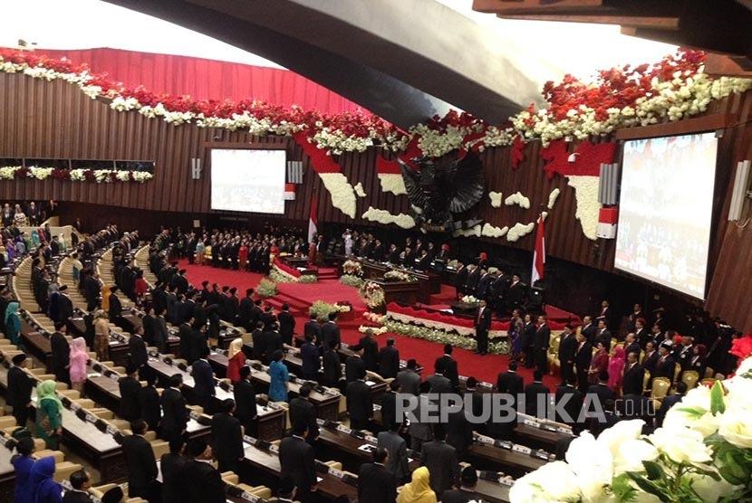 Sidang Tahunan MPR, DPR dan DPR di Komplek Parlemen, Senayan, Jakarta pada Rabu (16/8).