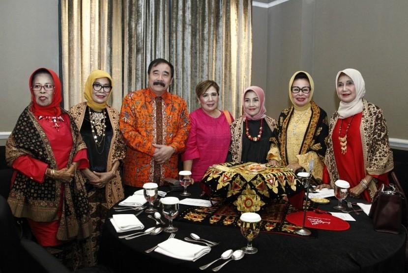 Silaturahim dan halal bi halal para perantau Minang diadakan di Hotel Gran Mahakam, Jakarta, Rabu (10/7).