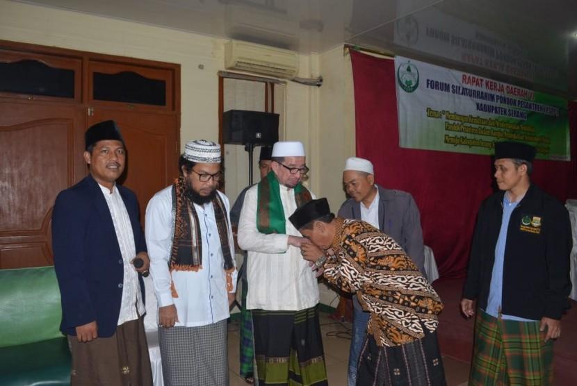 silaturahim pimpinan pondok pesantren se-Kabupaten Serang, Banten, Sabtu (2/2).