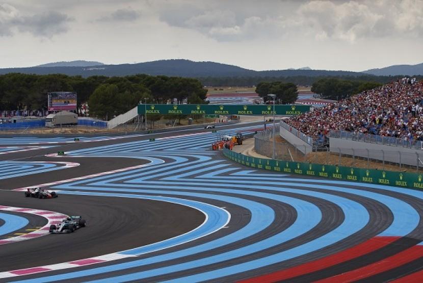 Sirkuit Paul Ricard di Le Castellet, Prancis, tempat balapan GP Prancis akhir pekan ini.