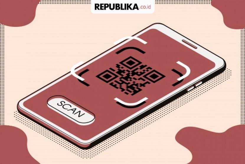 Sistem pembayaran Quick Response Indonesia Standard (QRIS).