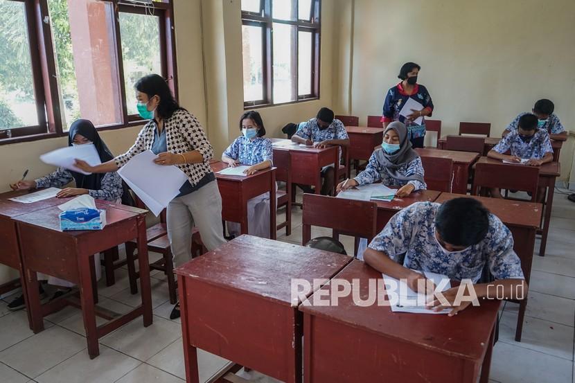 Separuh Lebih SMP di Kabupaten Kudus Gelar Ujian Tatap Muka (ilustrasi).