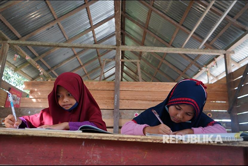 Madrasah Harus Penuhi Syarat untuk PTM Terbatas. Siswa Madrasah Ibtidayah (MI).