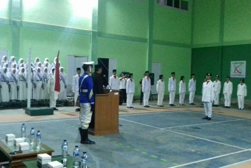 Siswa SMK Juara Rumah Zakat ikut selekai Paskibra.