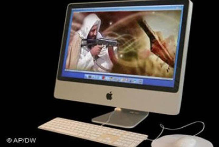 Situs yang menyerukan radikalisme. Ilustrasi