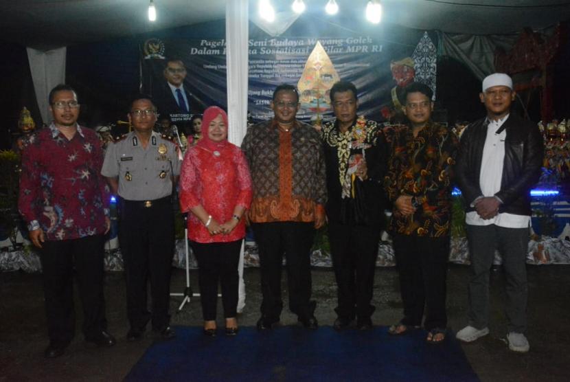 Sosialisasi Empat Pilar bersama Cepot di Ciampea, Kabupaten Bogor.