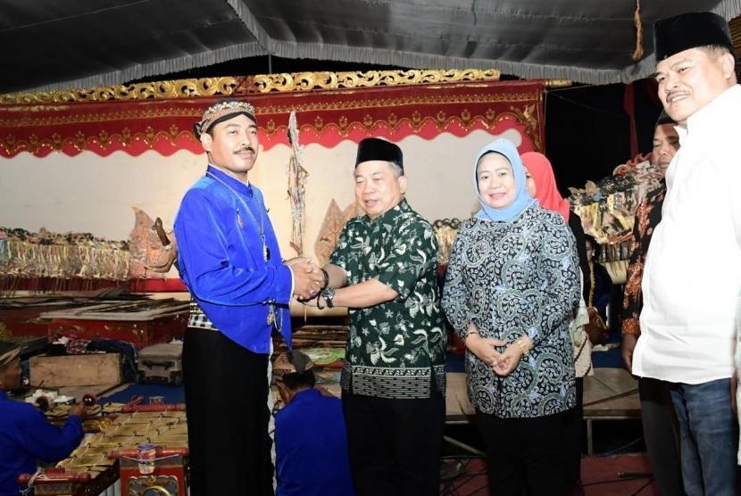 Sosialisasi Empat Pilar MPR di Kampung Terbanggi Besar, Kecamatan Terbanggi Besar Kabupaten Lampung Tengah, Sabtu (14/9) malam.