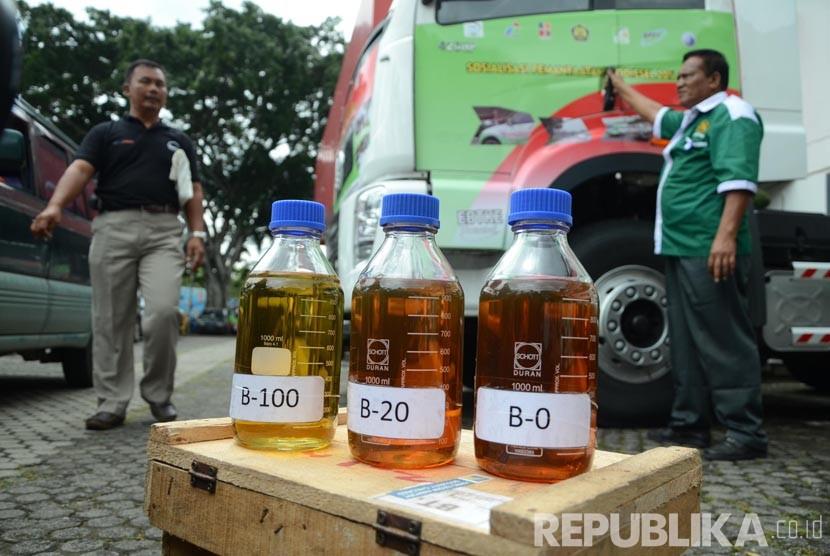 Sosialisasi pemamfaatan Biodiesel (B20) di Kantor Pertamina Unit Pemasaran, Kota Bandung, Kamis (4/2).