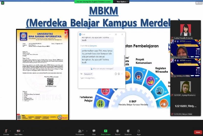 Sosialisasi program studi (prodi) Sistem Informasi Universitas BSI (Bina Sarana Informatika) kampus Purwokerto, menjadi salah satu kegiatan untuk menyambut mahasiswa baru (maba). Acara ini berlangsung pada Jumat (14/10) lalu secara daring melalui zoom.