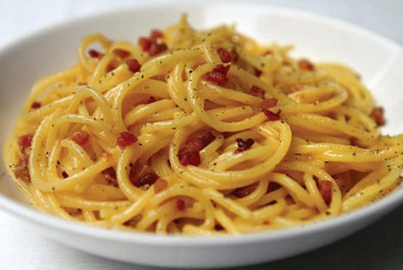 Spageti Carbonara (ilustrasi)