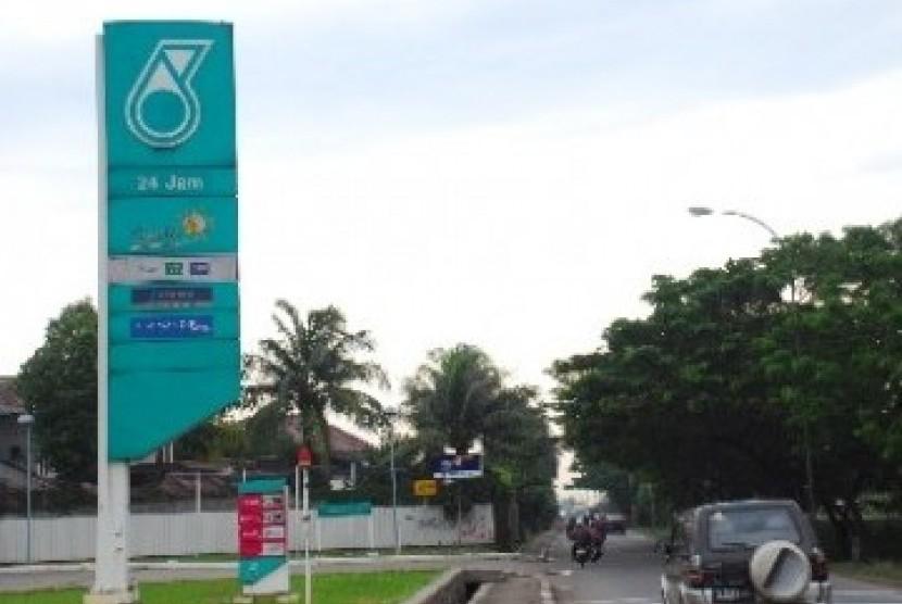 SPBU Petronas milik Malaysia (ilustrasi).