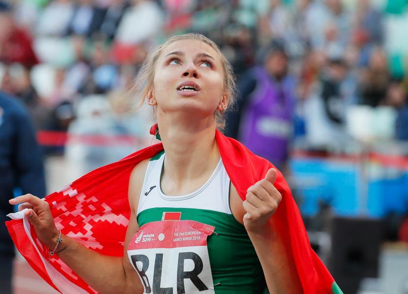 Sprinter Belarusia Krystsina Tsimanouskaya