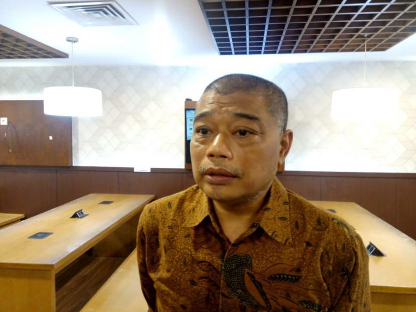 Staf Khusus Dewan Pengarah Badan Pembinaan Ideologi Pancasila (BPIP) Antonius Benny Susetyodi Gedung Nusantara III, Kompleks Parlemen, Jakarta, Selasa (17/3).