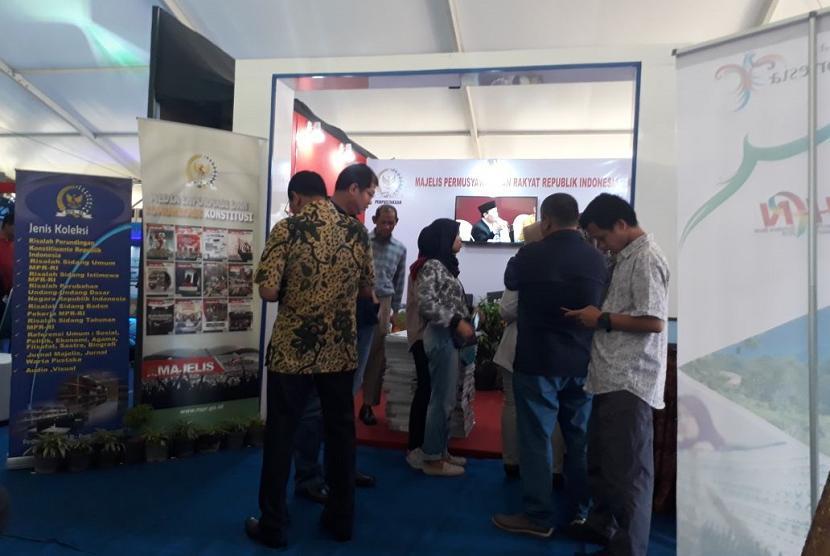 Stan Humas MPR RI di HPN 2018, Padang, Sumatera Barat.