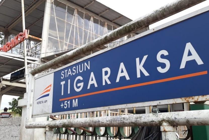 Stasiun Tigaraksa di Kabupaten Tangerang.
