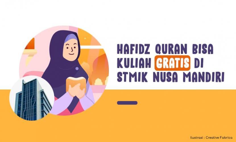 STMIK Nusa Mandiri menyediakan beasiswa untuk para hafifz Quran.