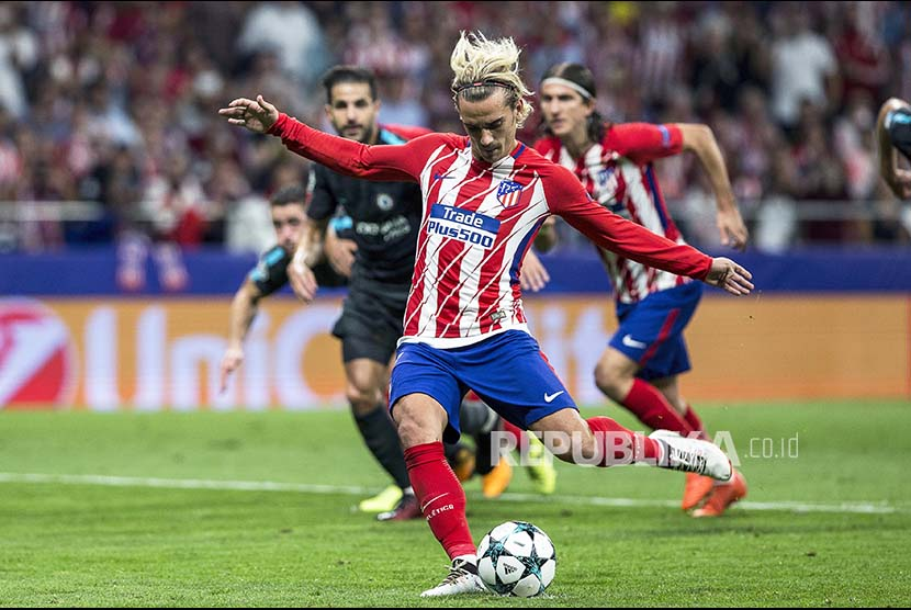 Striker Atletico Madrid Antoine Griezmann