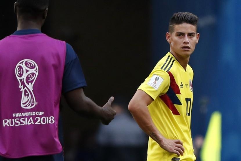 Striker timnas Kolombia, James Rodriguez.