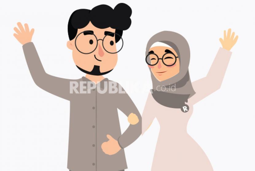 Suami-istri (ilustrasi)