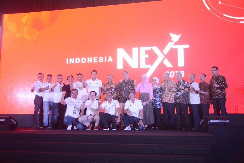 Suasana acara IndonesiaNEXT dan IPB Lead di Kampus IPB Dramaga, Bogor, Selasa (15/5).