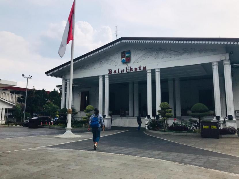 Suasana Balai Kota Bogor, Selasa (22/6). Puluhan Aparatur Sipil Negara (ASN) di wilayah Pemerintah Kota (Pemkot) Bogor dilaporkan terpapar Covid-19.