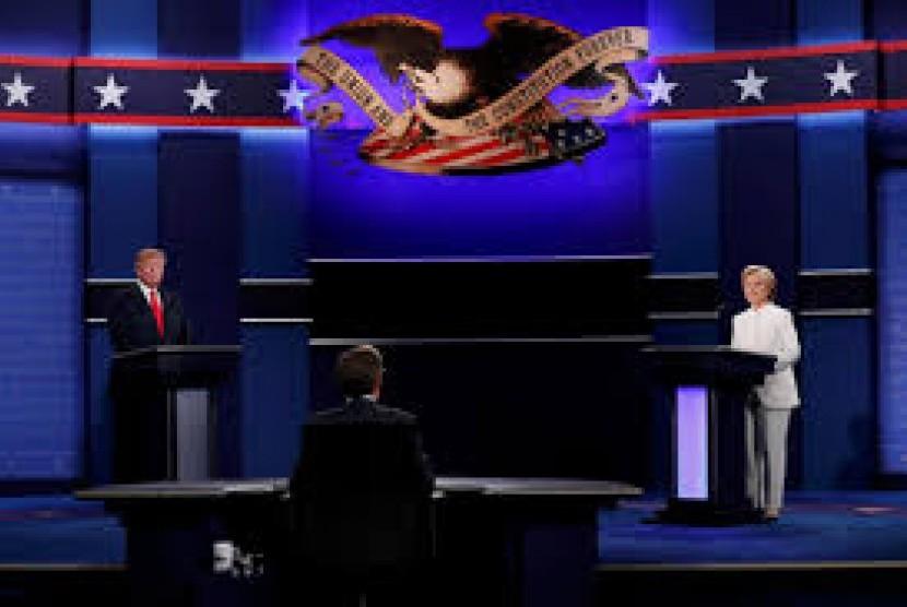 [ilustrasi] Suasana debat Pilpres di Amerika Serikat.
