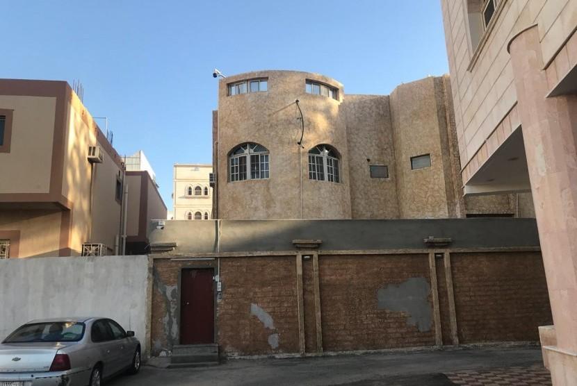 Suasana di sekitar tempat tinggal Habib Rizieq di Makkah.