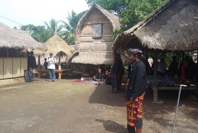 Suasana Dusun Sasak Ende, Lombok Tengah NTB