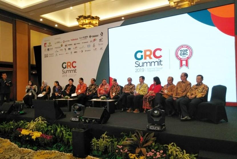 Suasana GRC Summit 2019 yang diadakan di Jakarta, 22-23 Agustus 2019.